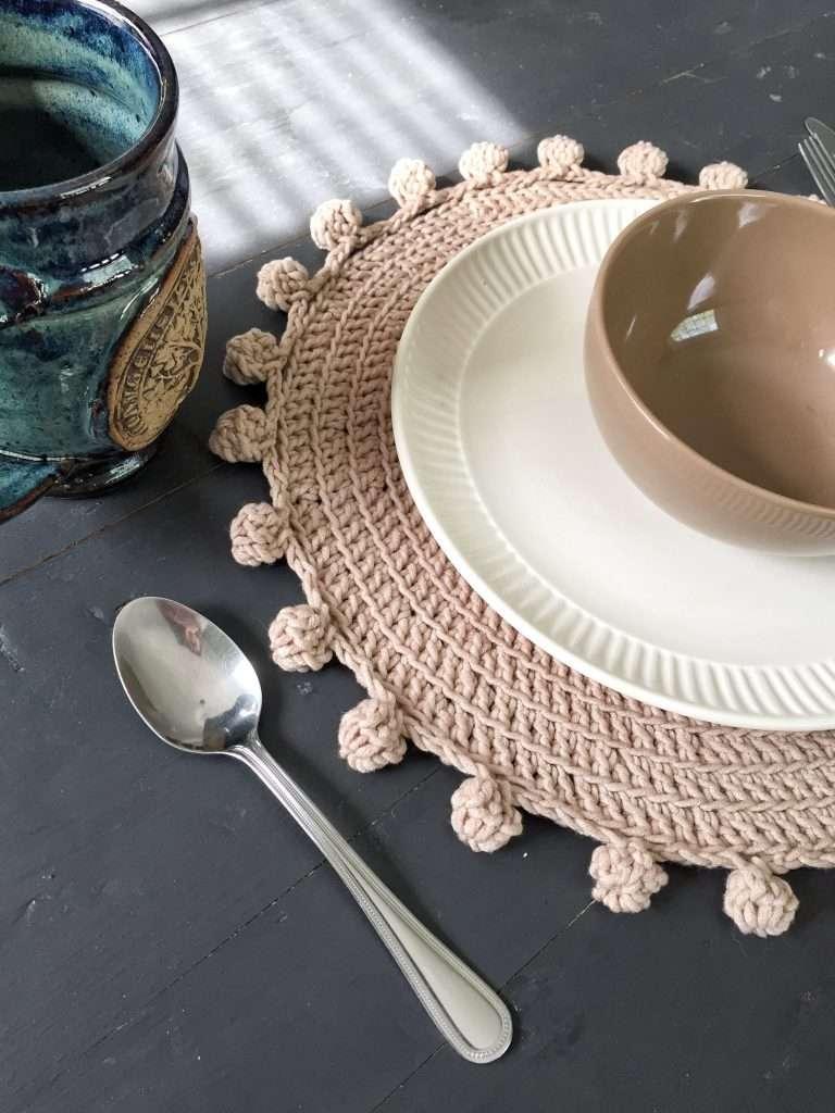 Crochet Boho Placemat Free Pattern