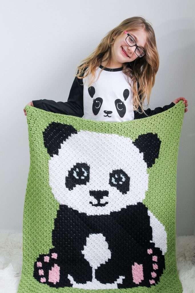 C2C Panda Bear Blanket