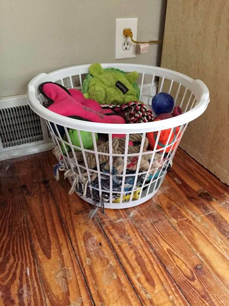 Laundry Basket for Dog Toy Storage