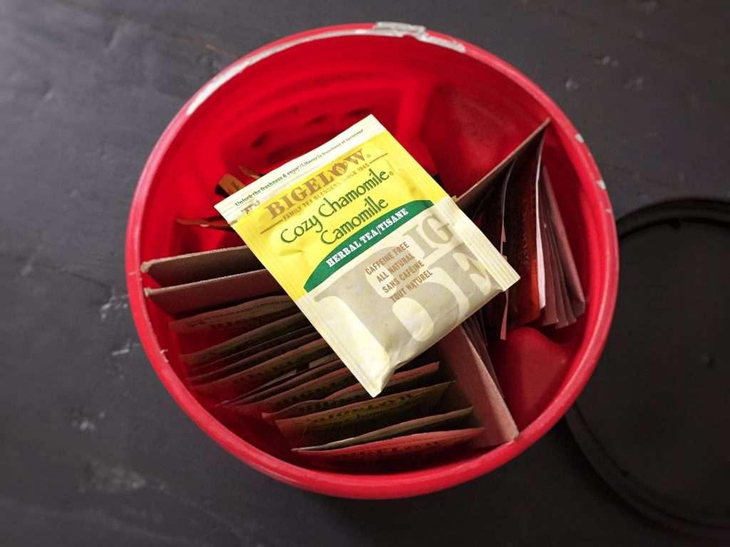 Tea Box made with a Folgers Coffee Tin