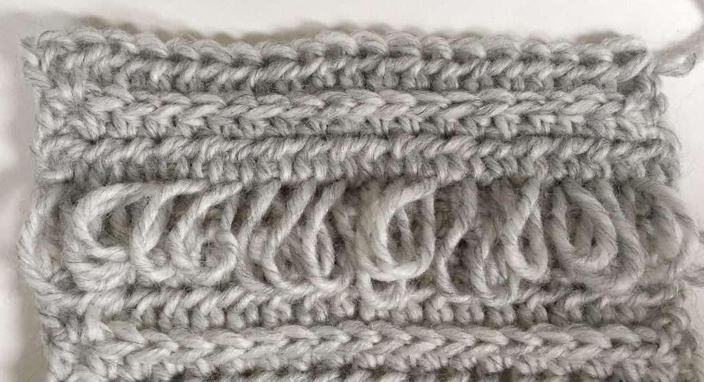 Loop Stitch Crochet Panel