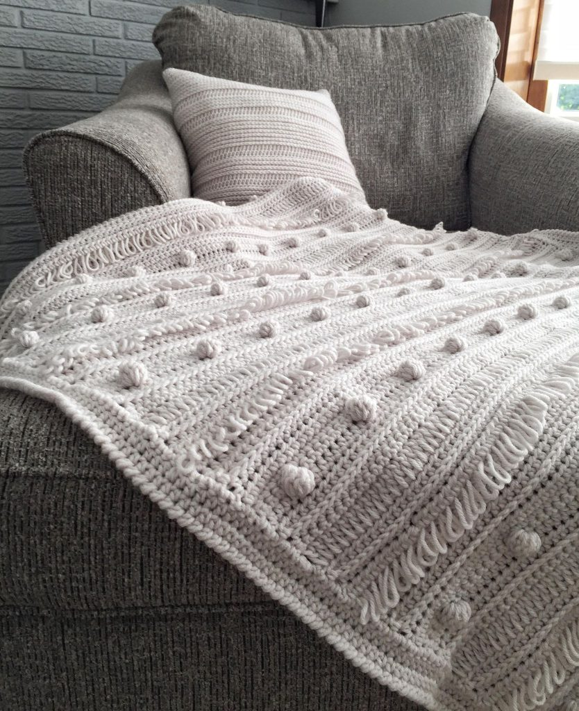 Loops and Bobbles Crochet Blanket Pattern by This Pixie Creates