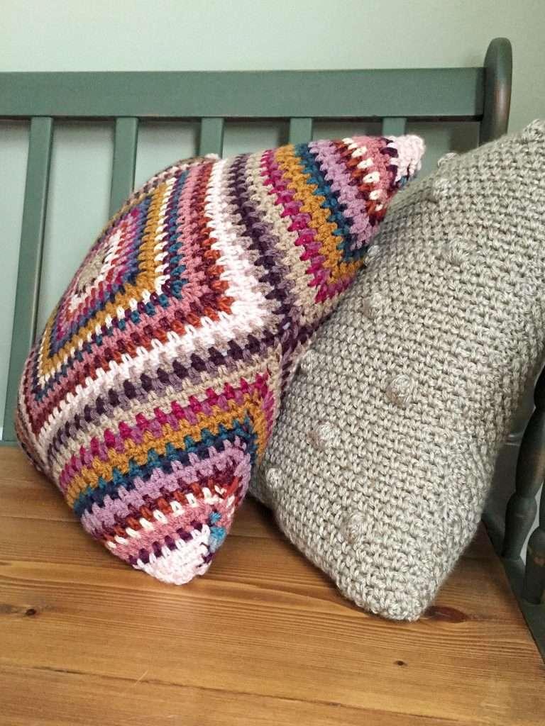 Modern and Boho Crochet Pillows Free Pattern